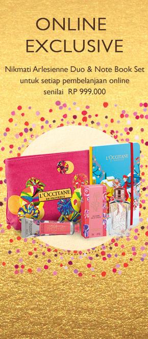 Dapatkan Arlesienne Duo & Note Book Set untuk setiap pembelanjaan sebesar Rp 999.000