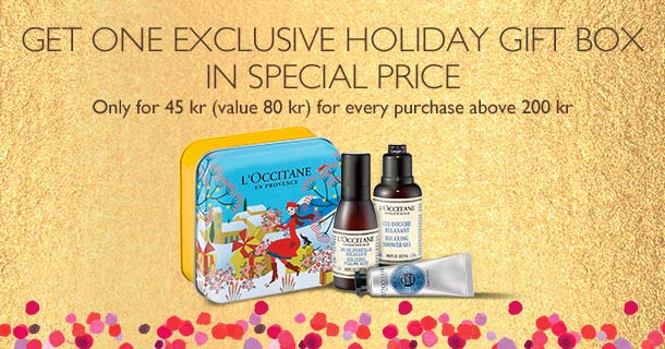 Get one exclusive holiday gift box  in special price