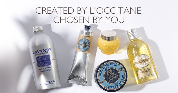 created by L'OCCITANE, chosen by you