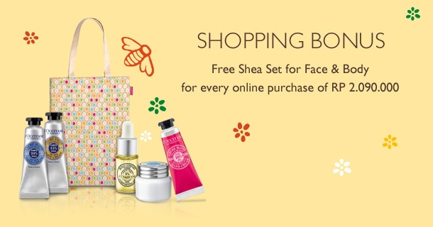 Get Shea Set for Face & Body for every purchase of Rp 2.090.000