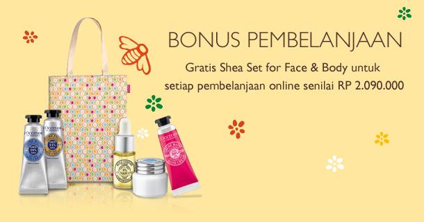 Dapatkan Shea Set for Face & Body untuk setiap pembelanjaan sebesar Rp 2.090.000