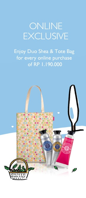 Get Duo Shea & Tote Bag for every purchase of Rp 1.190.000