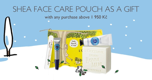Shea Face Care pouch as a gift