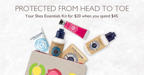 Shea Essentials Kit for $20 with any $45
