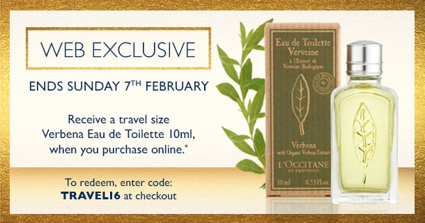 web exclusive- receive a deluxe sample of the verbena eau de toilette