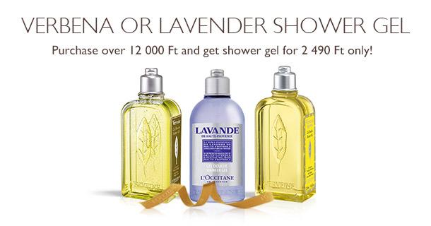 Verbena or Lavender Shower Gel