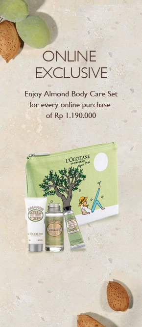 Get Almond Body Care Set for every purchase of Rp 1.190.000