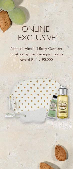 Dapatkan Almond Body Care Set untuk pembelanjaan senilai Rp 1.190.000