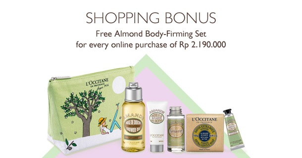 Free Almond Body-Firming Set for every purchase of Rp 2.190.000
