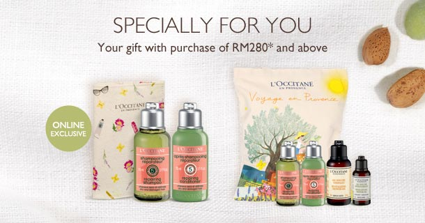 your gifts with purchase above RM280