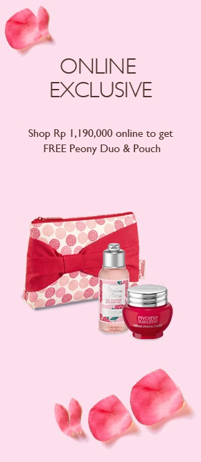 Get Peony Duo & for every purchase of Rp 1.190.000