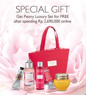Get Peony Luxury Set for FREE after spending Rp 2,690,000 online