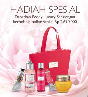 Dapatkan Peony Luxury Set dengan berbelanja online senilai Rp 2,690,000
