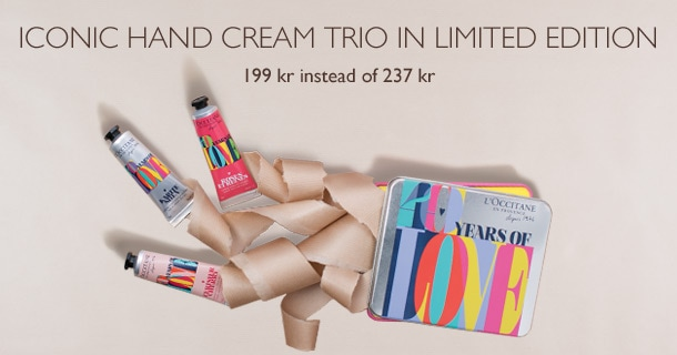 Iconic hand cream trio in Limited edition