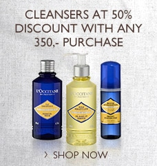 Cleansers at 50% discount