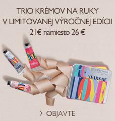 Trio krémov na ruky v limitovanej výročnej edícii