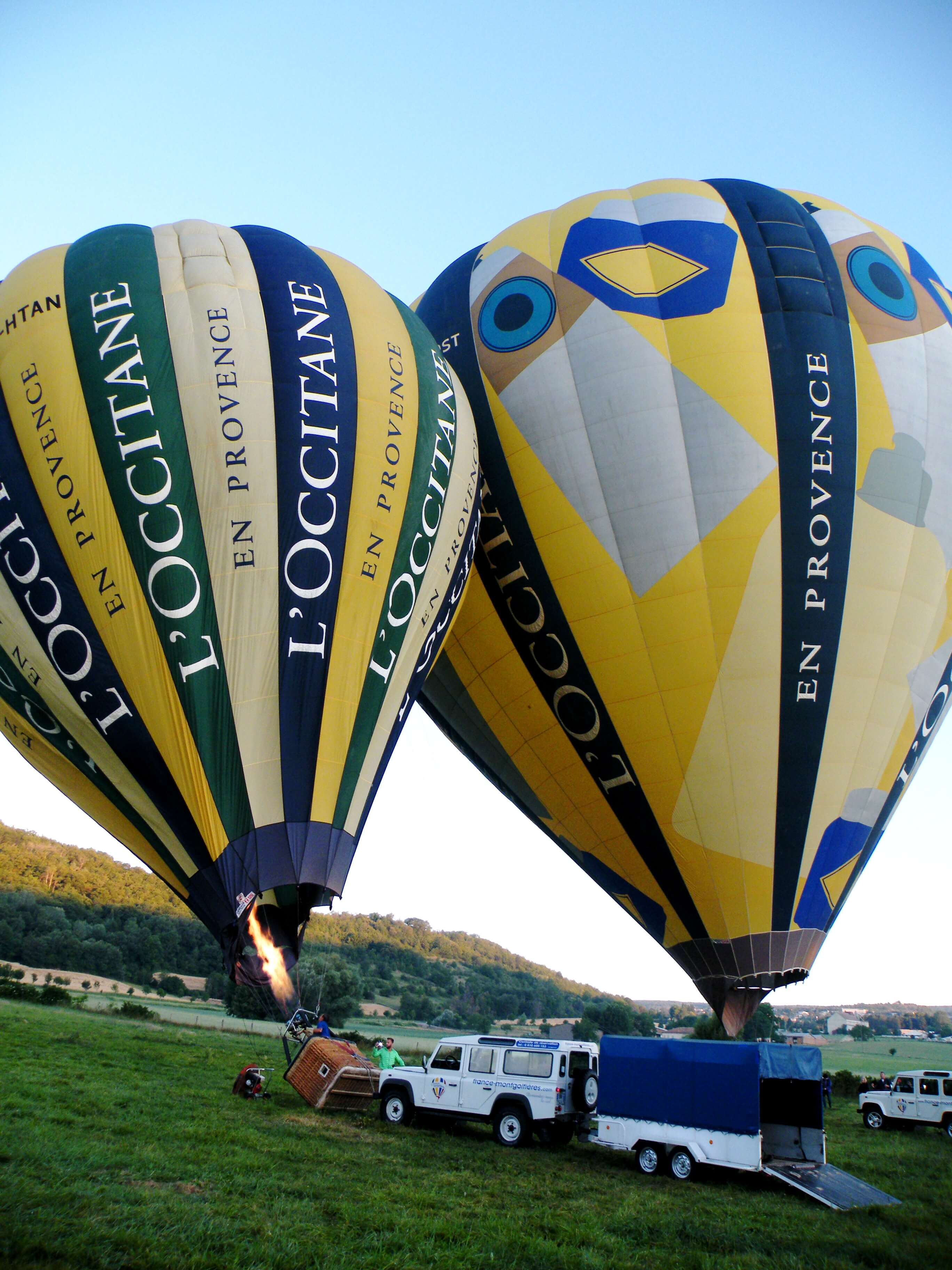 L'OCCITANE balloons getting ready to take us in the skies of Provence in the sunrise