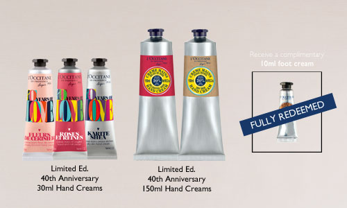 [FULLY REDEEMED] Purchase Limited Ed. 40th Anniversary Hand Creams