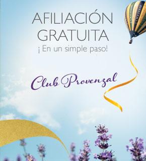 Afíliate gratis al Club Provenzal