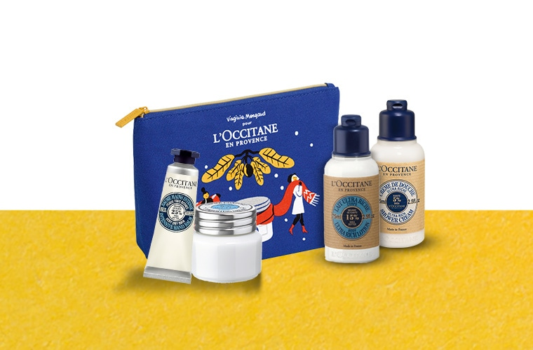 Travel kit with mixed Shea favorites
