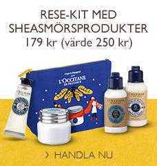 Rese-kit med sheasmörsprodukter