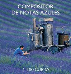 compositor de notas azules