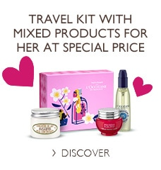 Travel kit with mixed products for her