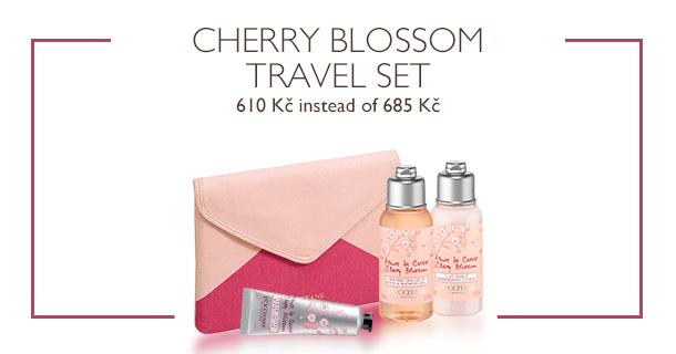 Cherry Blossom Travel Set