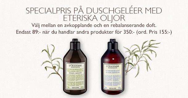 Specialpris på duschgeléer med eteriska oljor