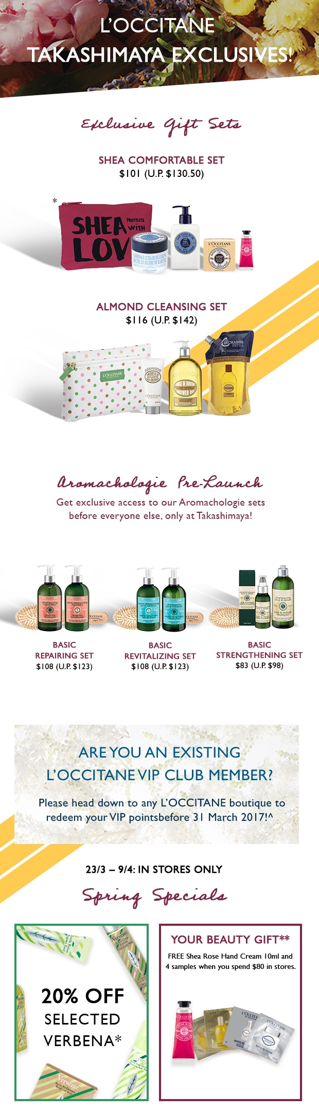 Takashimaya Exclusive Gift Sets and Pre-Launch