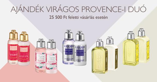 Ajándék Virágos Provence-i Duó