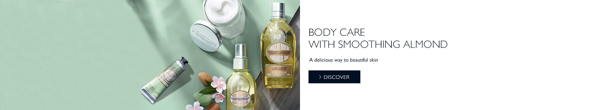 Body care with smoothing almond