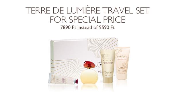 Terre de Lumière Travel Set for special price