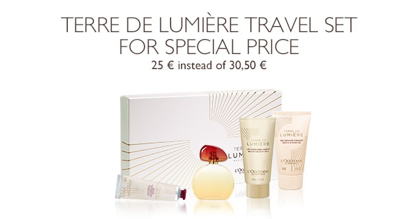 Terre de Lumière Travel Set for special price
