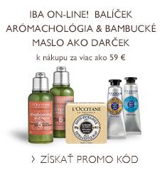 Iba on-line!  Balíček Arómachológia & Bambucké maslo ako darček