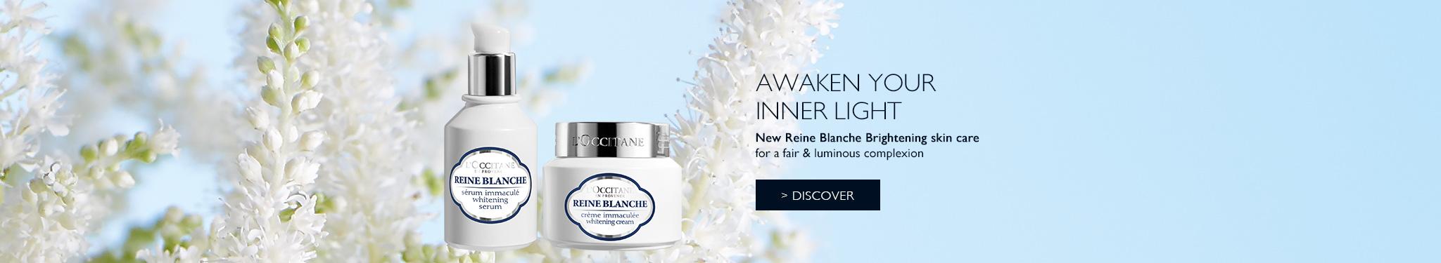 New Reine Blanche Brightening skin care