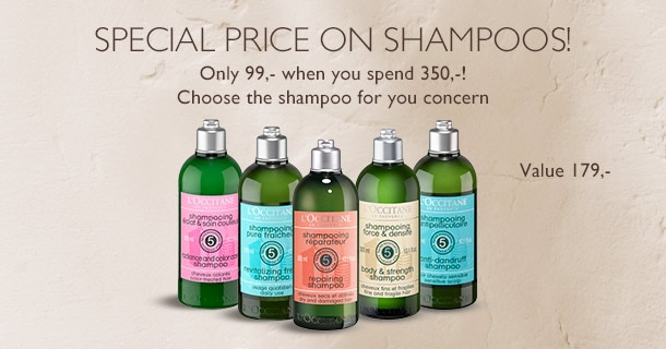 Special price on Shampoos!