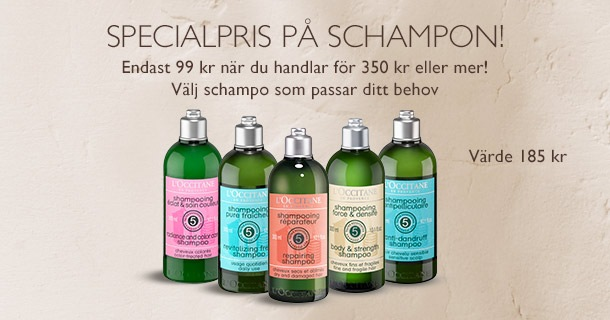 Specialpris på schampon!