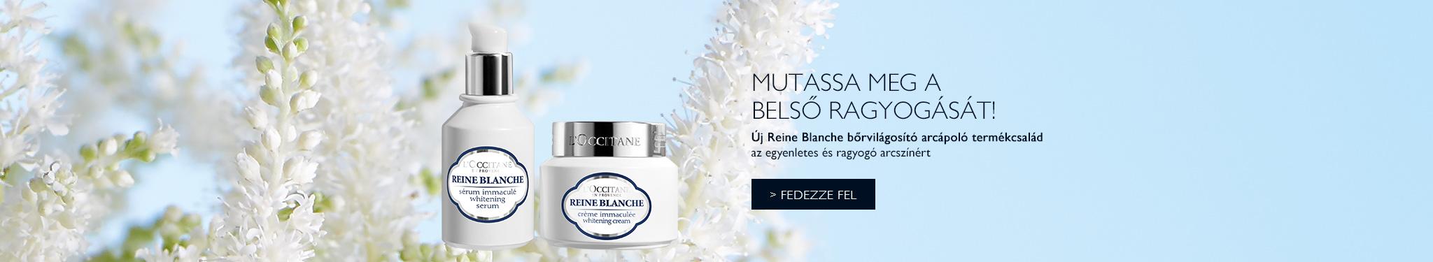 Új Reine Blanche bőrvilágosító arcápoló termékcsalád