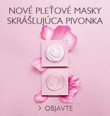 Nové pleťové masky Skrášľujúca Pivonka