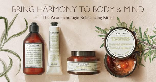 The aromachologie rebalancing ritual