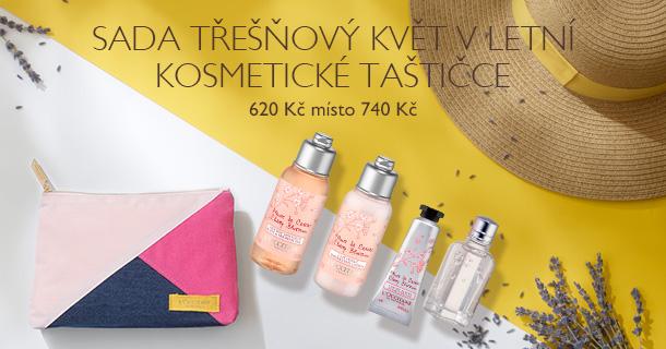 Sada Třešňový květ v letní kosmetické taštičce