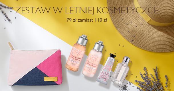 Zestaw w letniej kosmetyczce