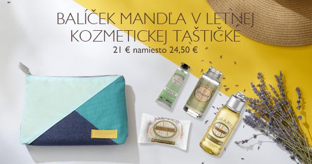 Balíček Mandľa v letnej kozmetickej taštičke