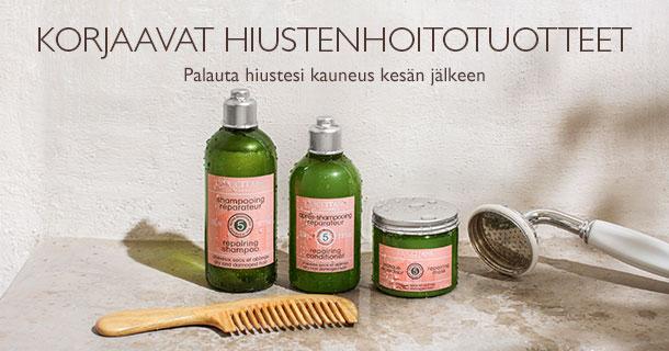 Korjaavat hiustenhoitotuotteet