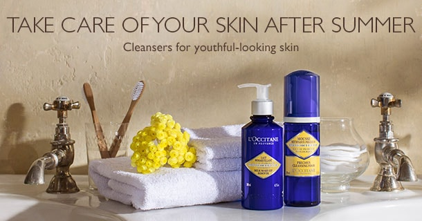 Cleansers for youthful-looking skin