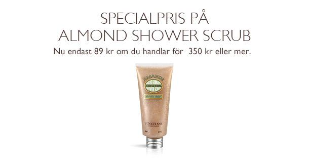 Specialpris på Almond Shower Scrub