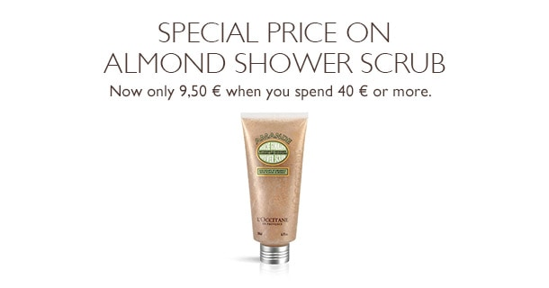 Special price on Almond Shower Scrub
