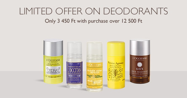 Limited offer on deodorants