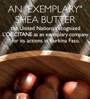 an exemplary shea butter the united nations recognized L'Occitane as an exemplary company for its action in Burkina Faso